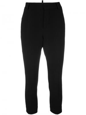 Укороченные декорированные брюки Dsquared2. Цвет: чёрный