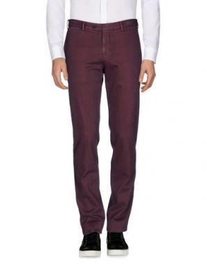 Повседневные брюки MORRIS. Цвет: баклажанный
