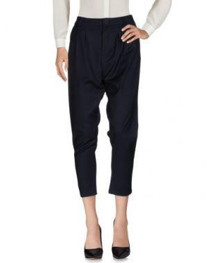 Повседневные брюки SOUVENIR. Цвет: темно-синий