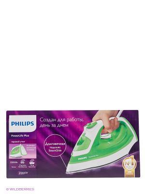 Паровой утюг Philips PowerLife Plus GC2980/70. Цвет: белый, зеленый