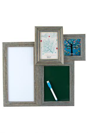 Фоторамка-коллаж на 2 фото Русские подарки. Цвет: зеленый, синий, серый