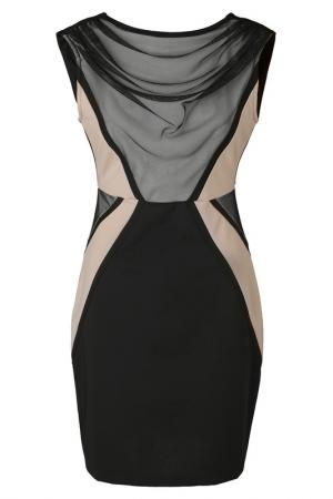 Платье Apart. Цвет: черный, каменно-серый