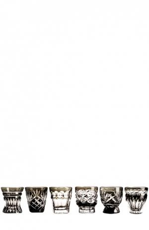 Набор из 6-ти рюмок для водки На здоровье Tsar. Цвет: бесцветный