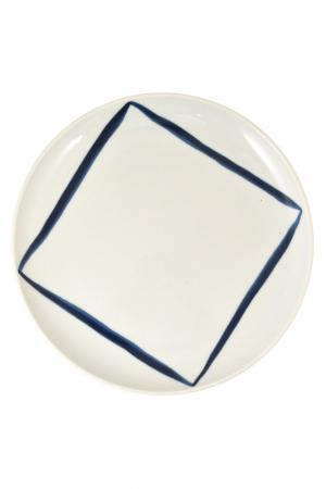 Тарелка 21 см KAHLA. Цвет: белый, синий