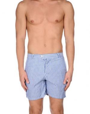 Пляжные брюки и шорты DEPERLU. Цвет: синий