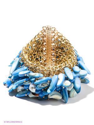 Браслет Bijoux Land. Цвет: синий, золотистый