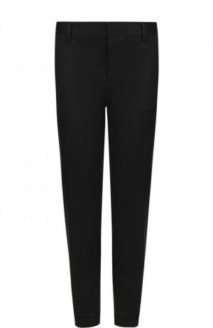 Укороченные хлопковые брюки со стрелками Dsquared2. Цвет: черный