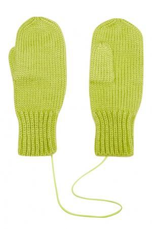 Зеленые варежки Knittedkiss. Цвет: зеленый