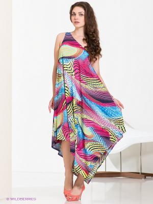 Платье МадаМ Т. Цвет: розовый, синий