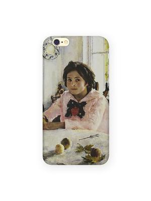 Чехол для IPhone 6 Девочка с персиками Mitya Veselkov. Цвет: зеленый, желтый, красный