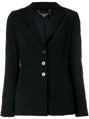 Приталенный пиджак Twin-Set. Цвет: чёрный