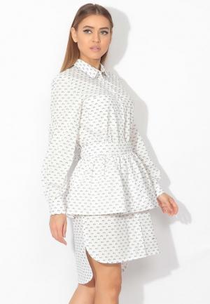 Комплект платье и юбка Tutto Bene. Цвет: белый