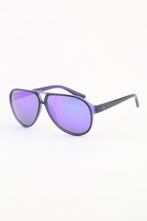 Очки солнцезащитные Lacoste. Цвет: сиреневый