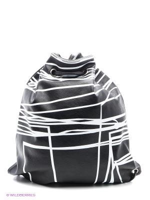 Сумка Sisley. Цвет: черный, белый