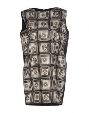 Короткое платье FAUSTO PUGLISI. Цвет: бежевый