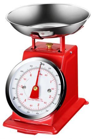 Весы кухонные, 3 кг Федерация. Цвет: красный