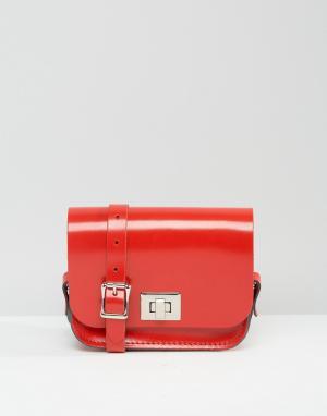 Leather Satchel Company Сумочка через плечо. Цвет: красный