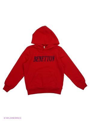 Худи United Colors of Benetton. Цвет: красный