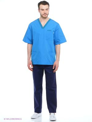 Брюки медицинские Med Fashion Lab. Цвет: темно-синий