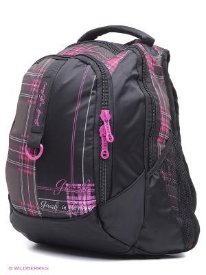 Рюкзак Grizzly. Цвет: черный, розовый