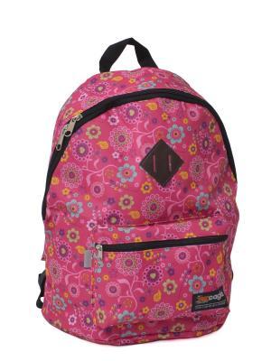 Ранец ученический  для средних и старших классов 453235 CAGIA. Цвет: розовый