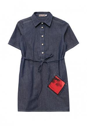 Платье джинсовое Shened. Цвет: синий