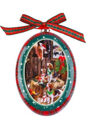 Диск Папье-маше Mister Christmas. Цвет: красный, зеленый