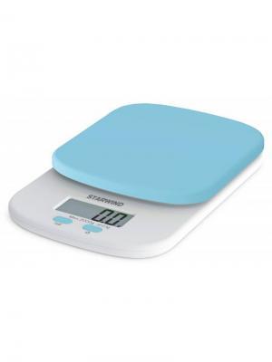Весы кухонные электронные Starwind SSK2156. Цвет: голубой