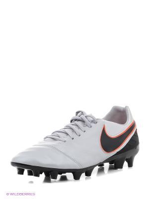 Бутсы TIEMPO MYSTIC V FG Nike. Цвет: белый
