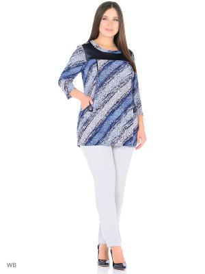 Туника, модель Лиза Dorothy's Home. Цвет: черный, серо-голубой, синий