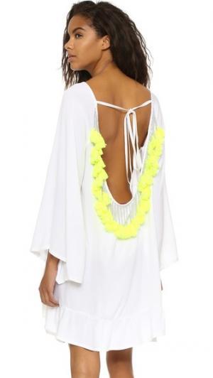Короткое пляжное платье Indiana Basic SUNDRESS. Цвет: белый/неоновый белый