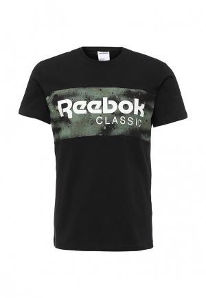 Футболка Reebok Classics. Цвет: черный