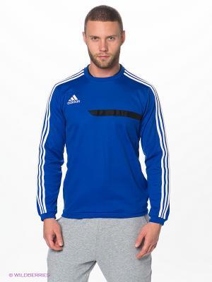 Лонгслив Adidas. Цвет: синий