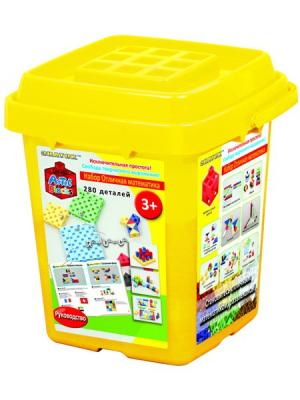 Конструктор-кубики Знаток ARTEC Отличная математика  (280дет.). Цвет: желтый
