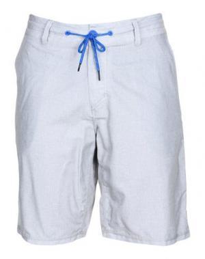 Пляжные брюки и шорты OAKLEY. Цвет: светло-серый