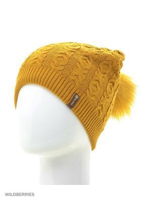 Хлоя Беркле шапка женская с помпоном Berkle. Цвет: горчичный