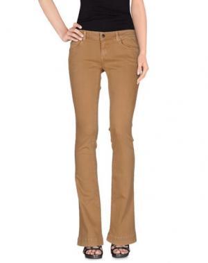 Джинсовые брюки KAOS JEANS. Цвет: песочный