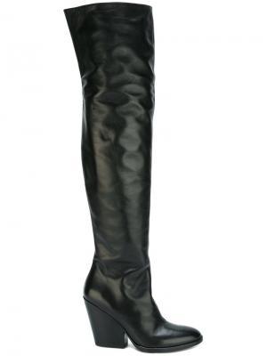 Ботфорты на массивном каблуке A.F.Vandevorst. Цвет: чёрный