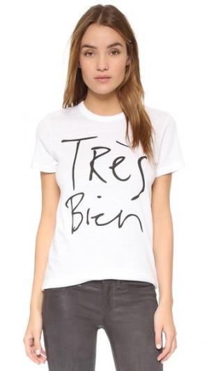 Футболка Tres Bien CHRLDR. Цвет: белый