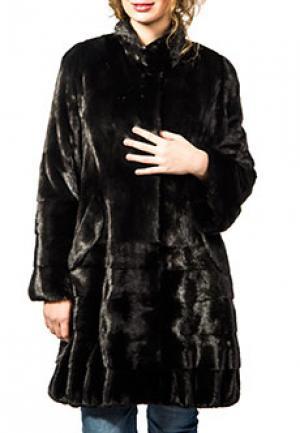 Пальто меховое BELLINI. Цвет: черный