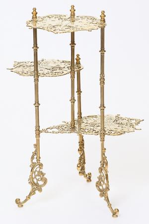 Столик, 3 столешницы Stilars. Цвет: золотой
