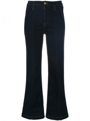 Расклешенные брюки Frame Denim. Цвет: синий