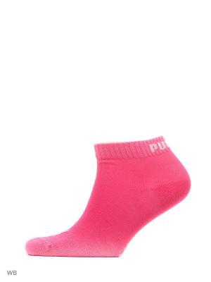 Носки PUMA UNISEX QUARTER PLAIN 3P. Цвет: серый, розовый, светло-серый