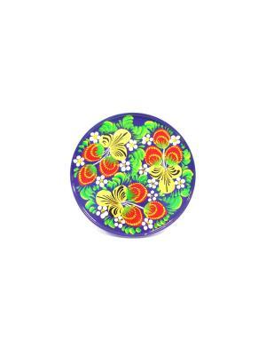 Тарелка - Синие цветы Taowa. Цвет: синий