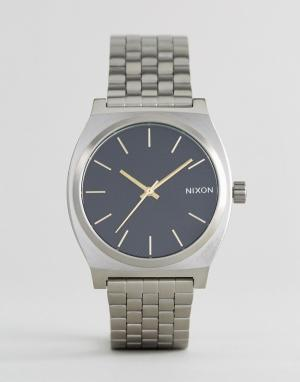 Nixon Серебристые наручные часы Black Velvet Time Teller. Цвет: серебряный