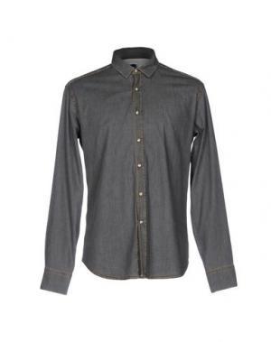 Джинсовая рубашка BAGUTTA. Цвет: свинцово-серый