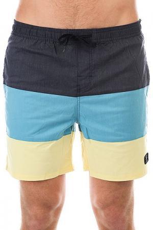 Шорты пляжные DC Henning 16.5 Dark Indigo Shoes. Цвет: ,синий,голубой,желтый