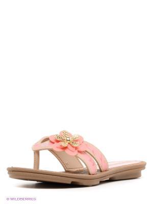 Пантолеты Grendha. Цвет: розовый, коричневый