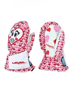 Лыжные рукавицы  Animal level. Цвет: белый с красным
