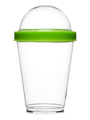 Стакан для йогурта Sagaform. Цвет: зеленый